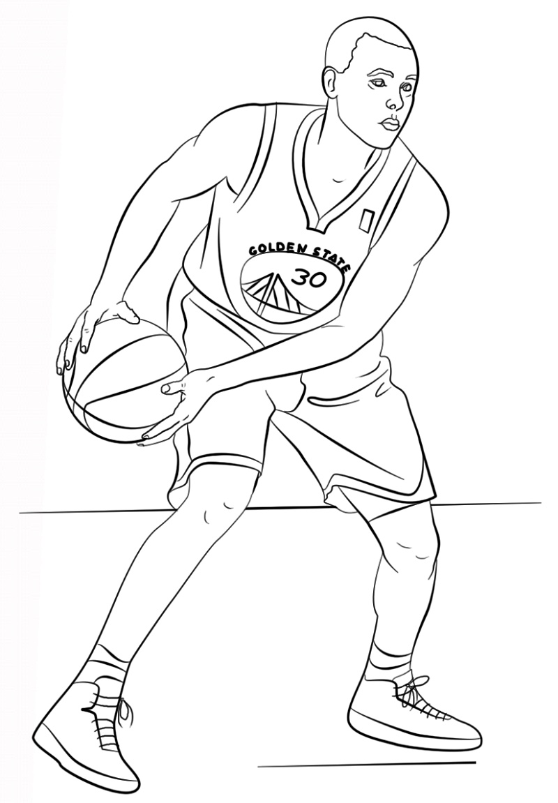 Stephen Curry Coloring Pages Free