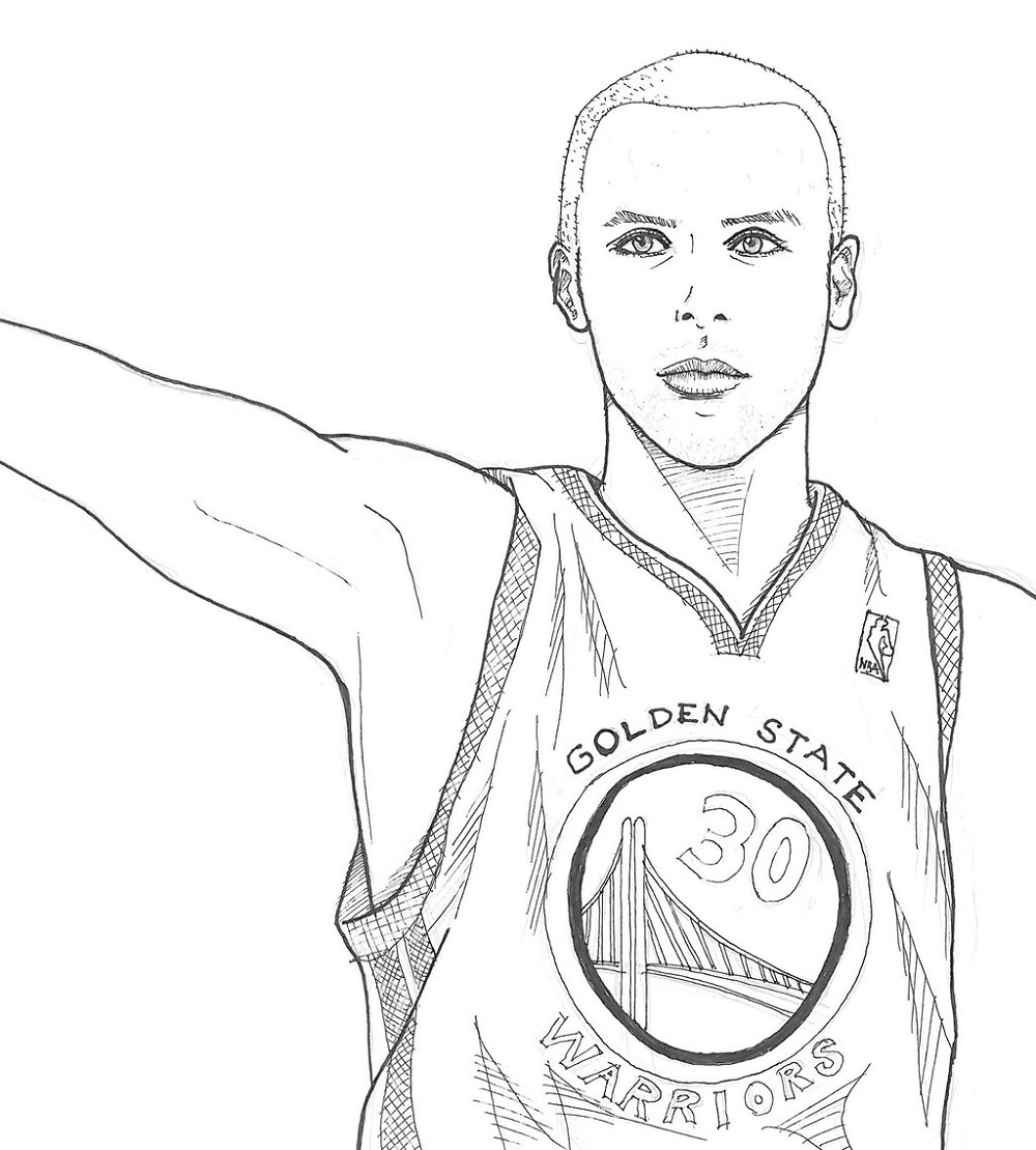 Stephen Curry Coloring Pages Golden State Warriors