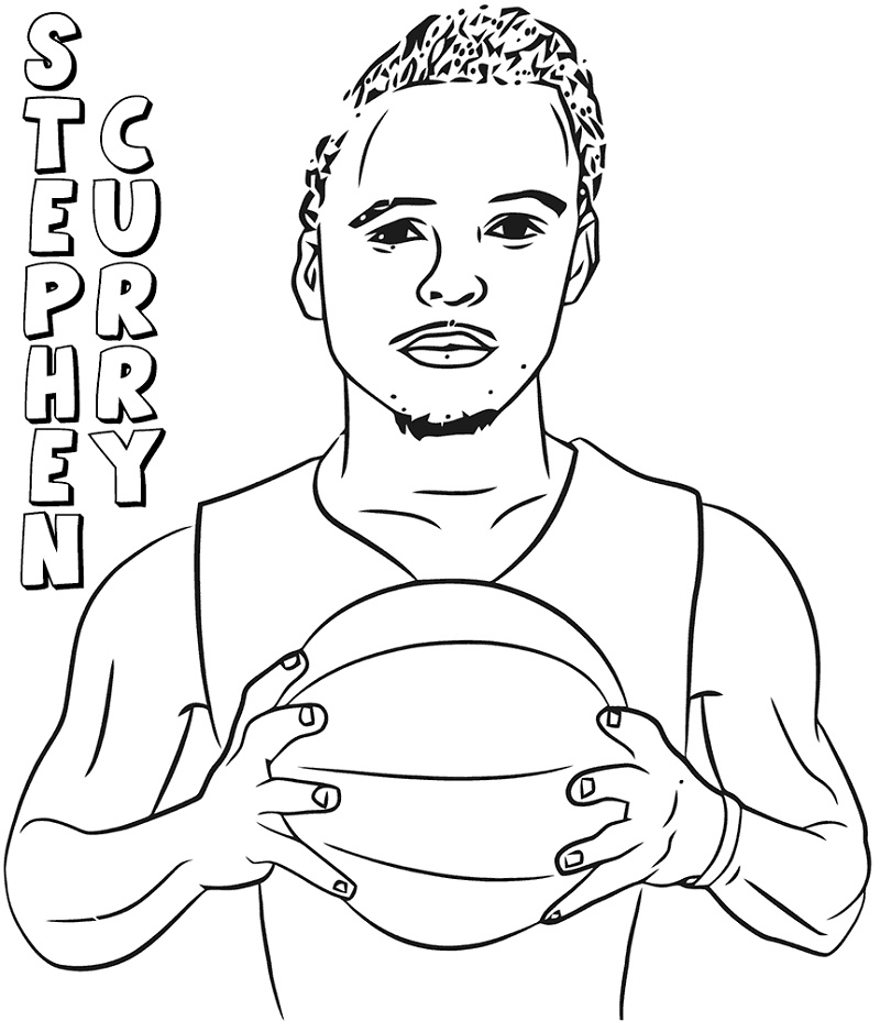 Stephen Curry Coloring Pages Printable