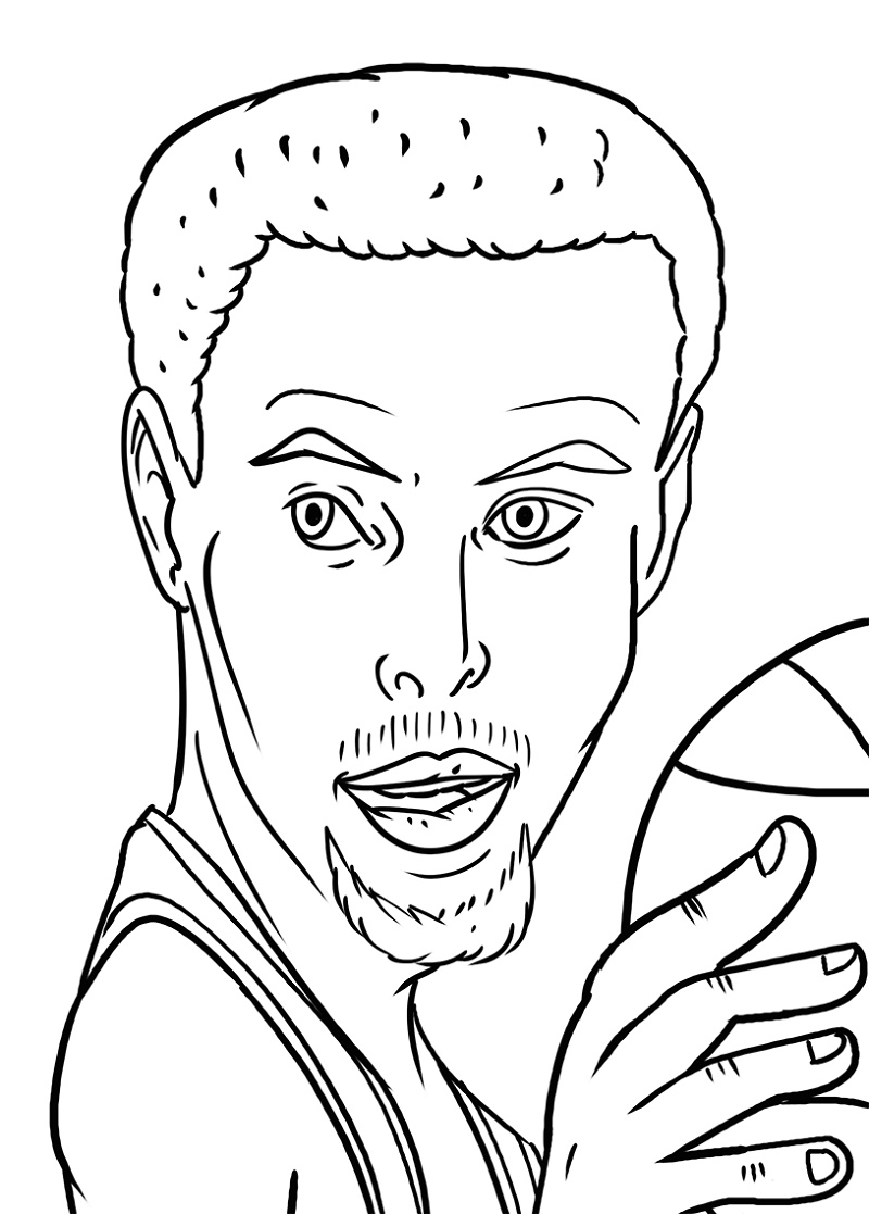 Stephen Curry Coloring Pages To Print