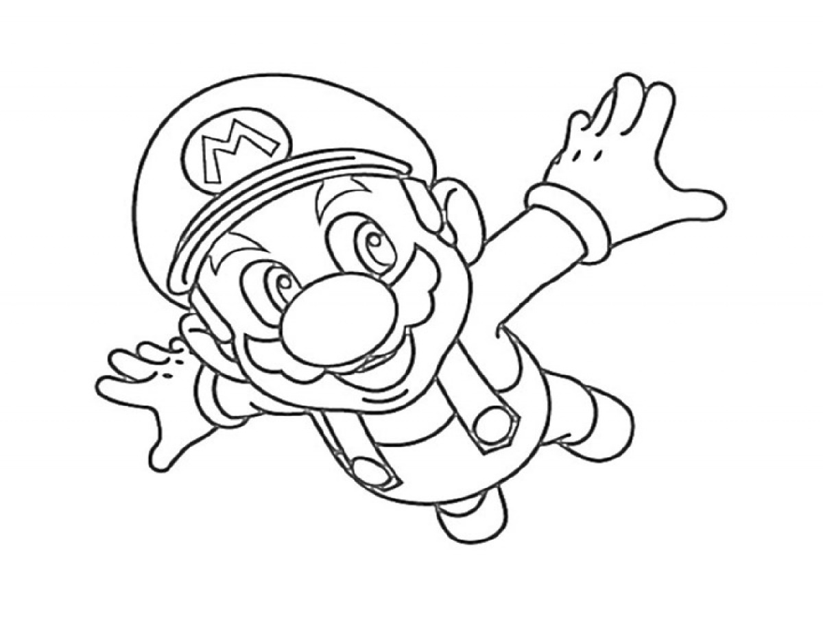 Super Smash Bros Coloring Pages Mario