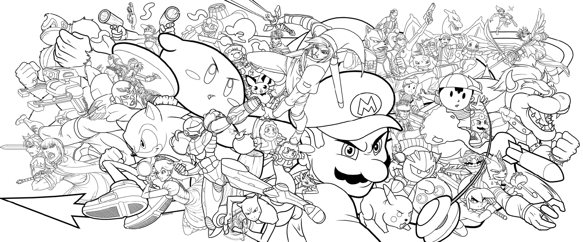 Super Smash Bros Coloring Pages Printable