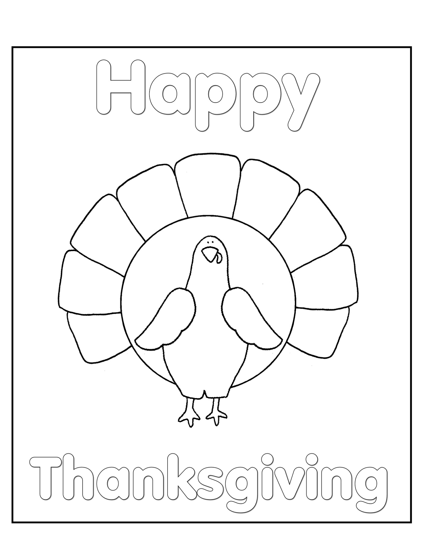 Thanksgiving Coloring Pages Free Cards