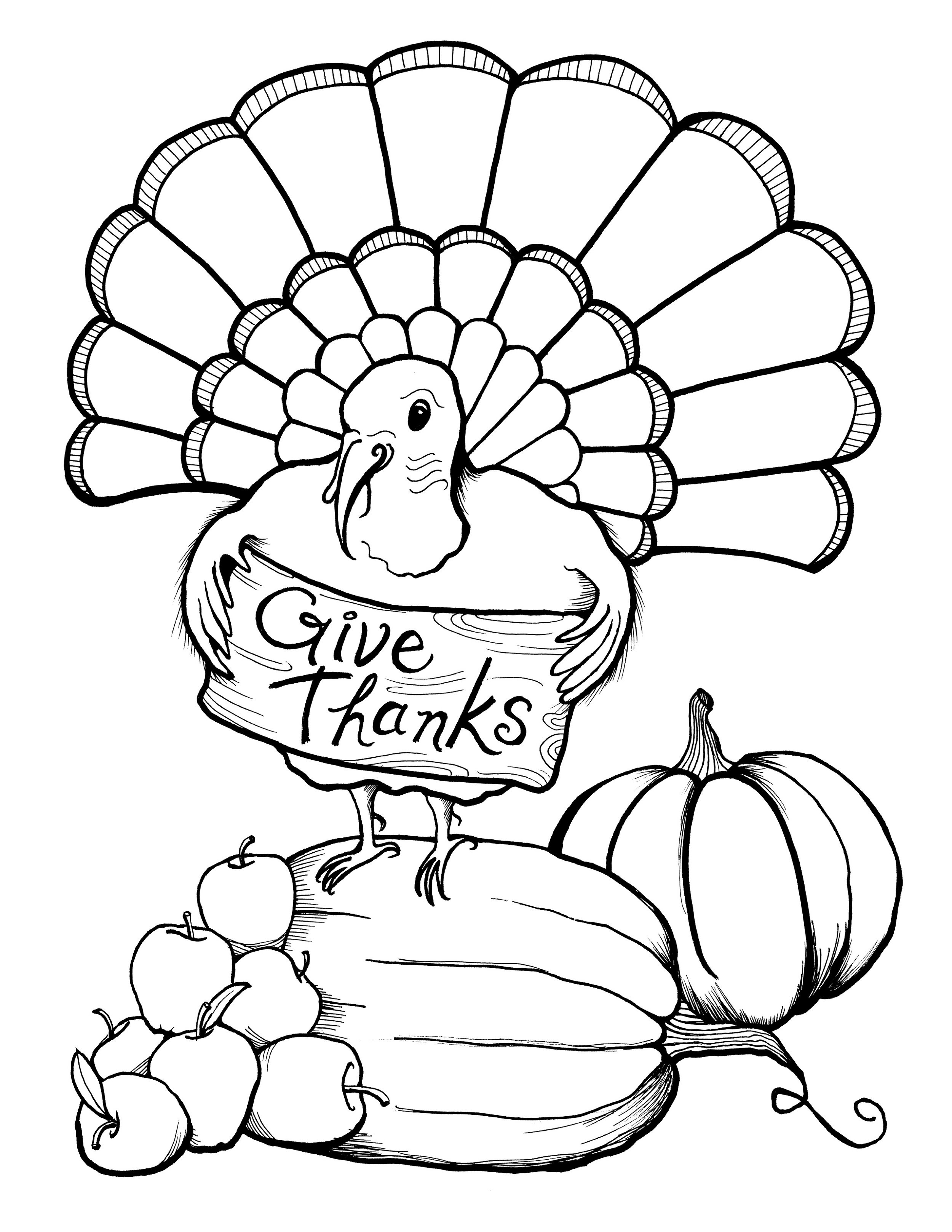 Thanksgiving Coloring Pages Free Turkey