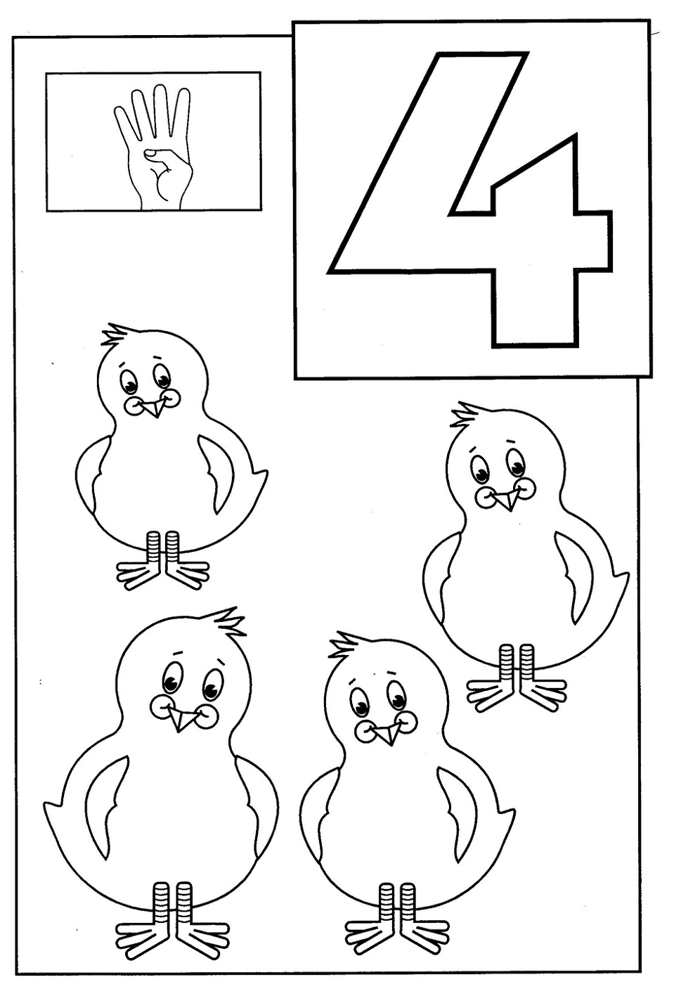 Toddler Activity Pages Number