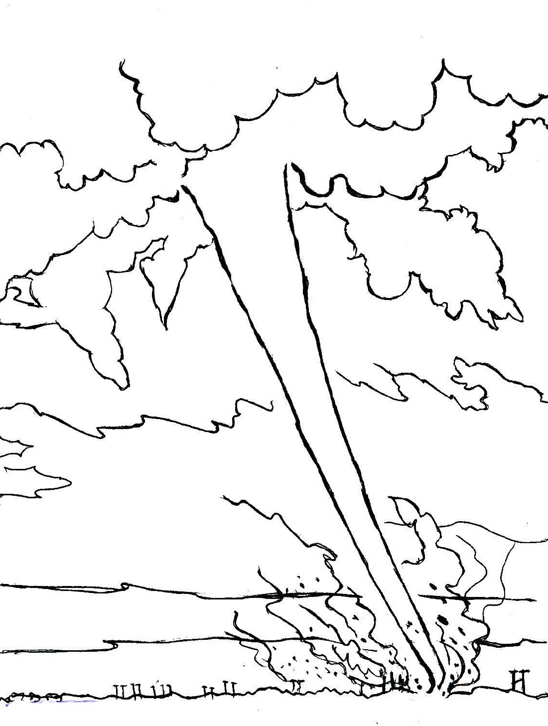 Tornado Coloring Pages Free