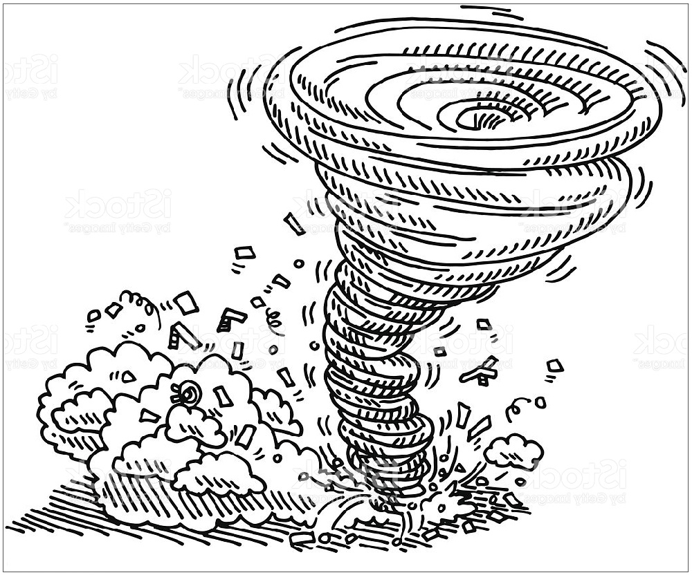 Tornado Coloring Pages Natural Disaster