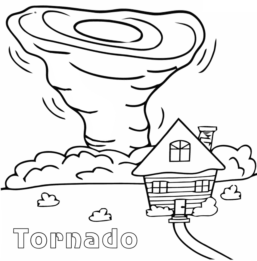 Tornado Coloring Pages Printable