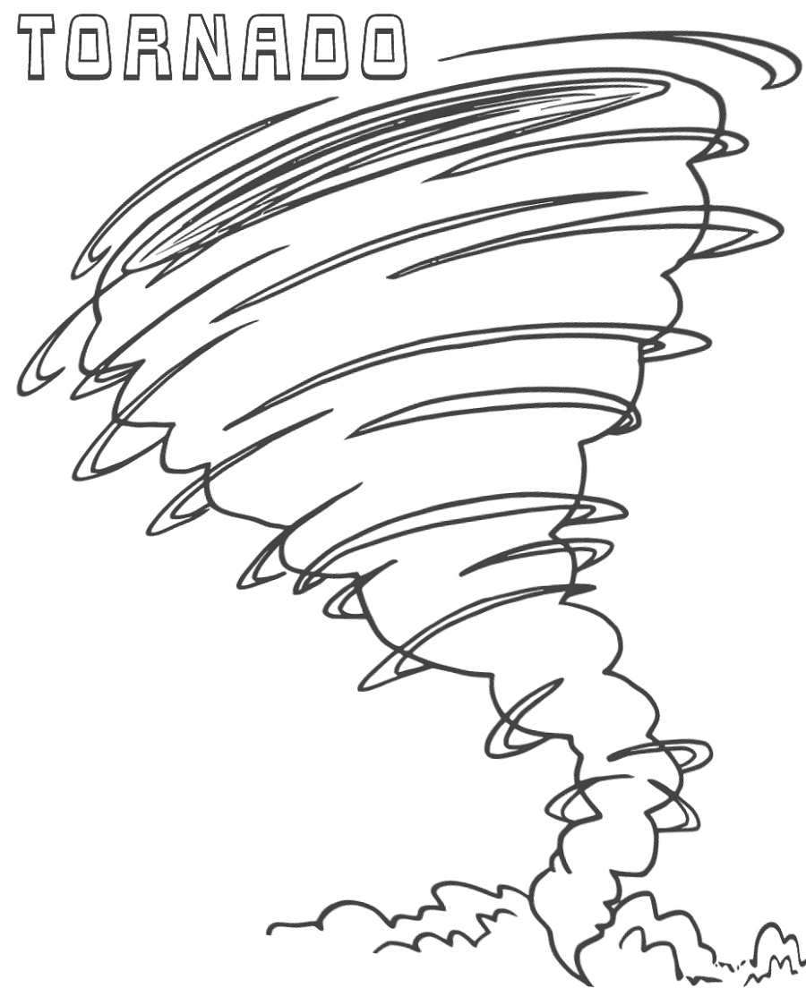 Tornado Coloring Pages To Print
