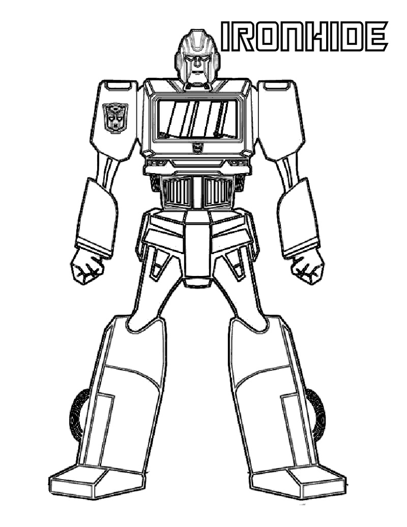 Transformers Coloring Pages Ironhide