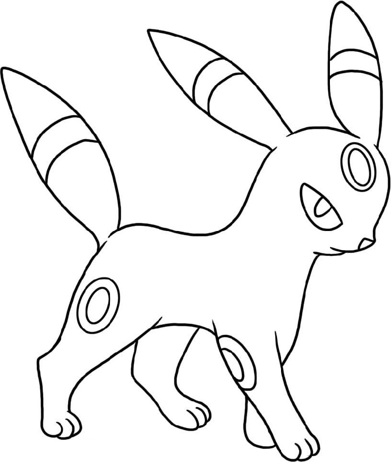 Umbreon Coloring Pages Pokemon