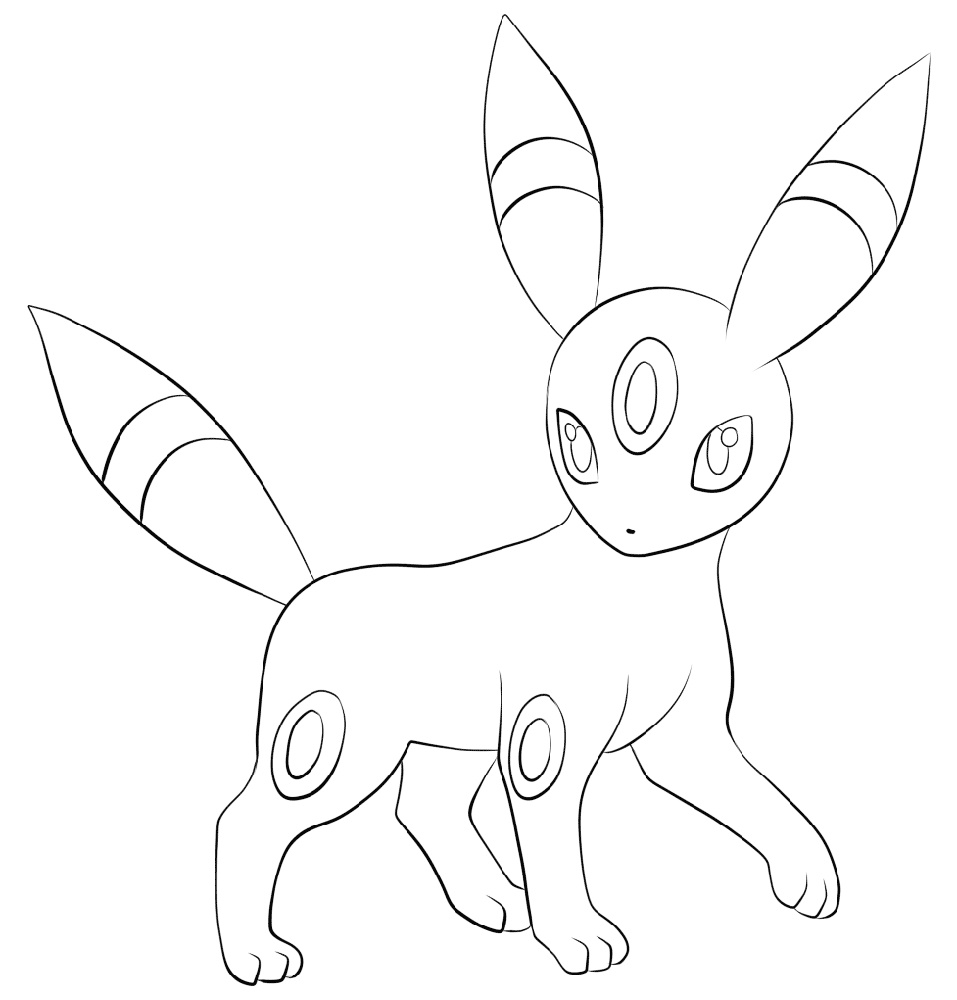 Umbreon Coloring Pages Printable