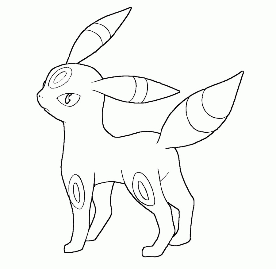 Umbreon Coloring Pages To Print