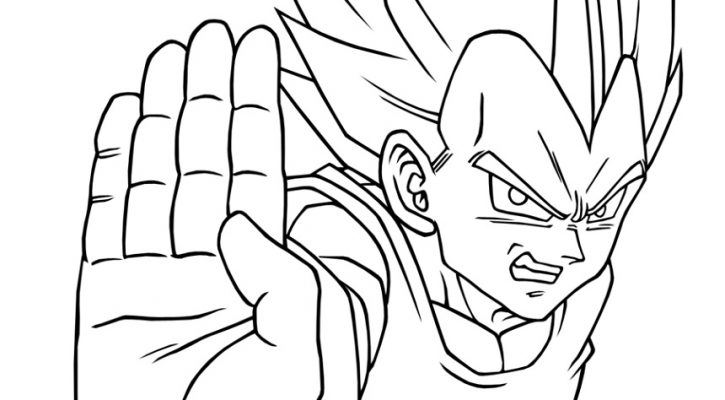 Vegeta Coloring Pages For Kids