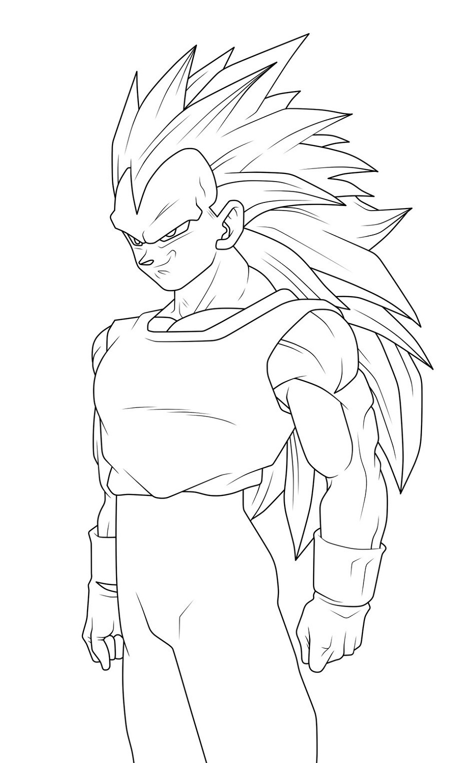 Vegeta Coloring Pages Free