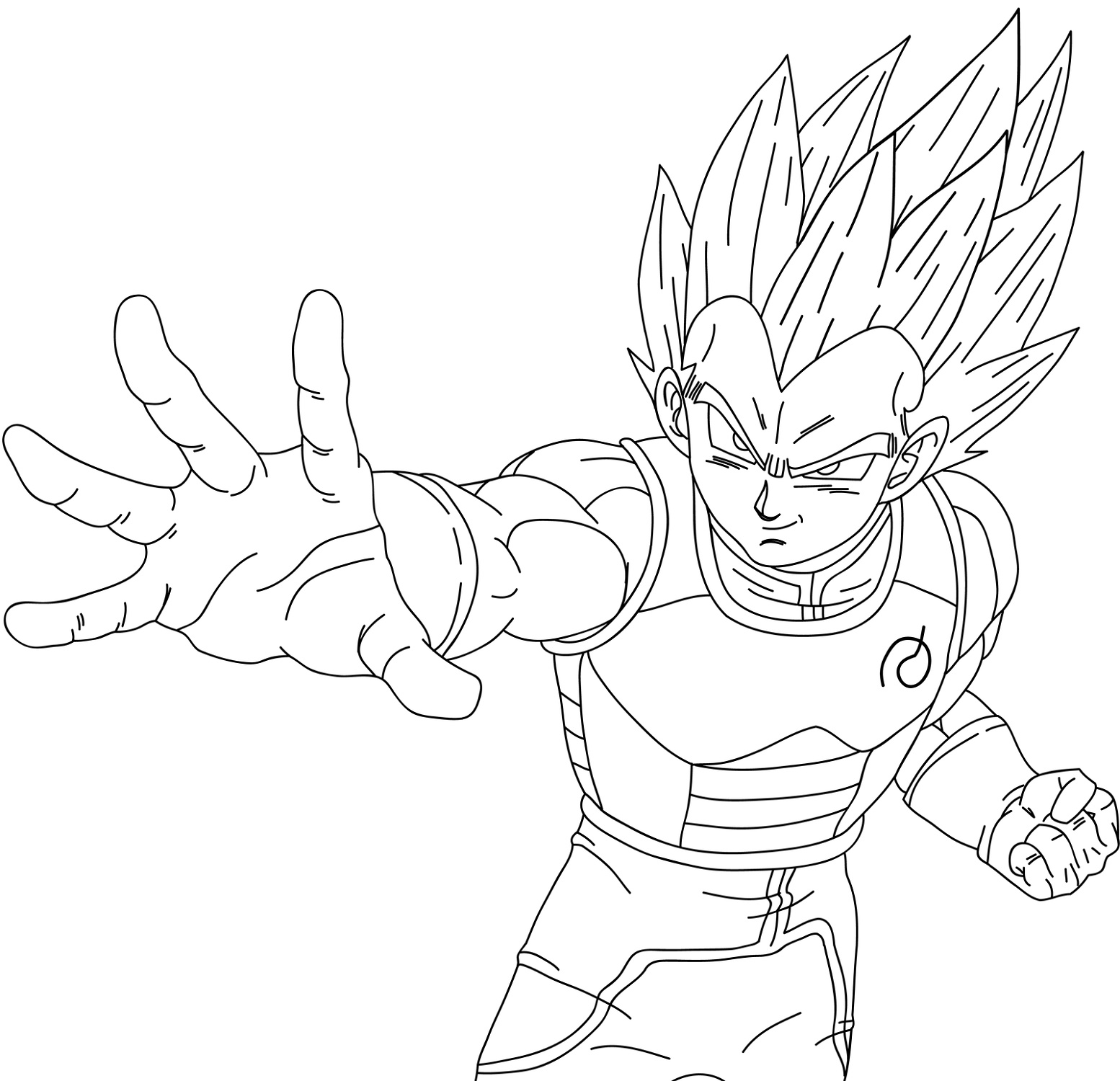 Vegeta Coloring Pages Printable