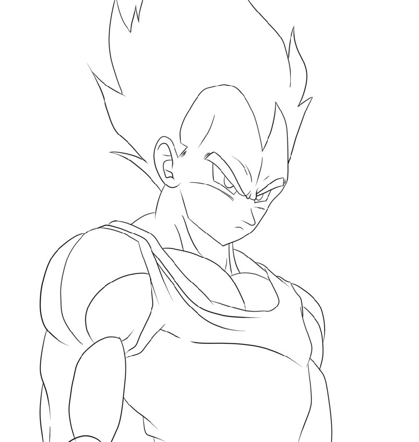 Vegeta Coloring Pages Super Saiyan