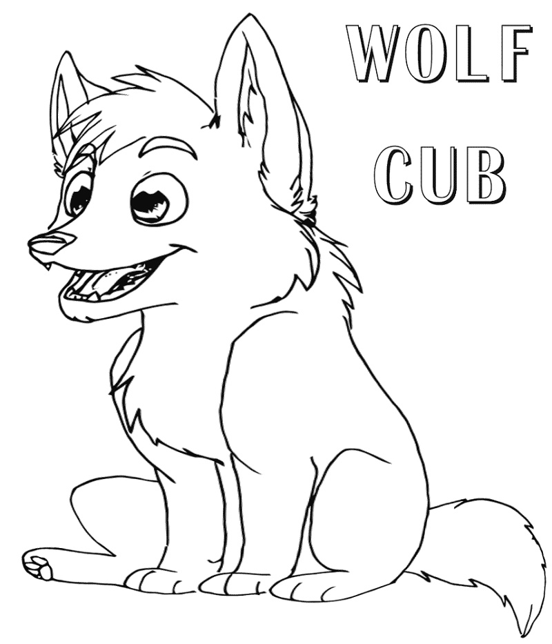 Wolf Coloring Pages Cub