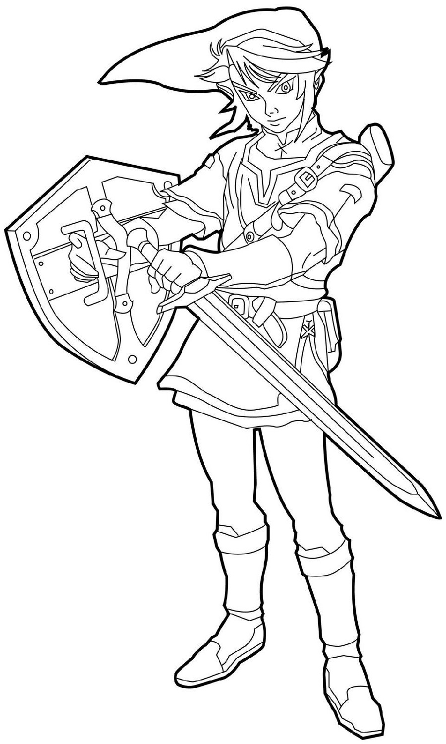 Zelda Coloring Pages Free