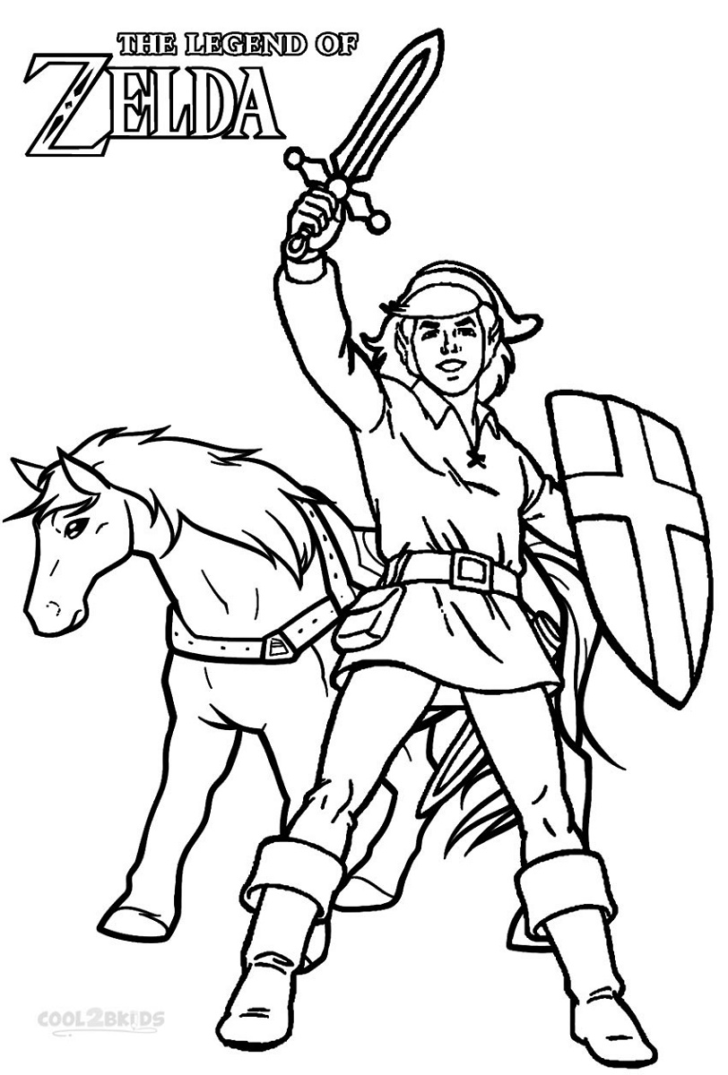 Zelda Coloring Pages Link
