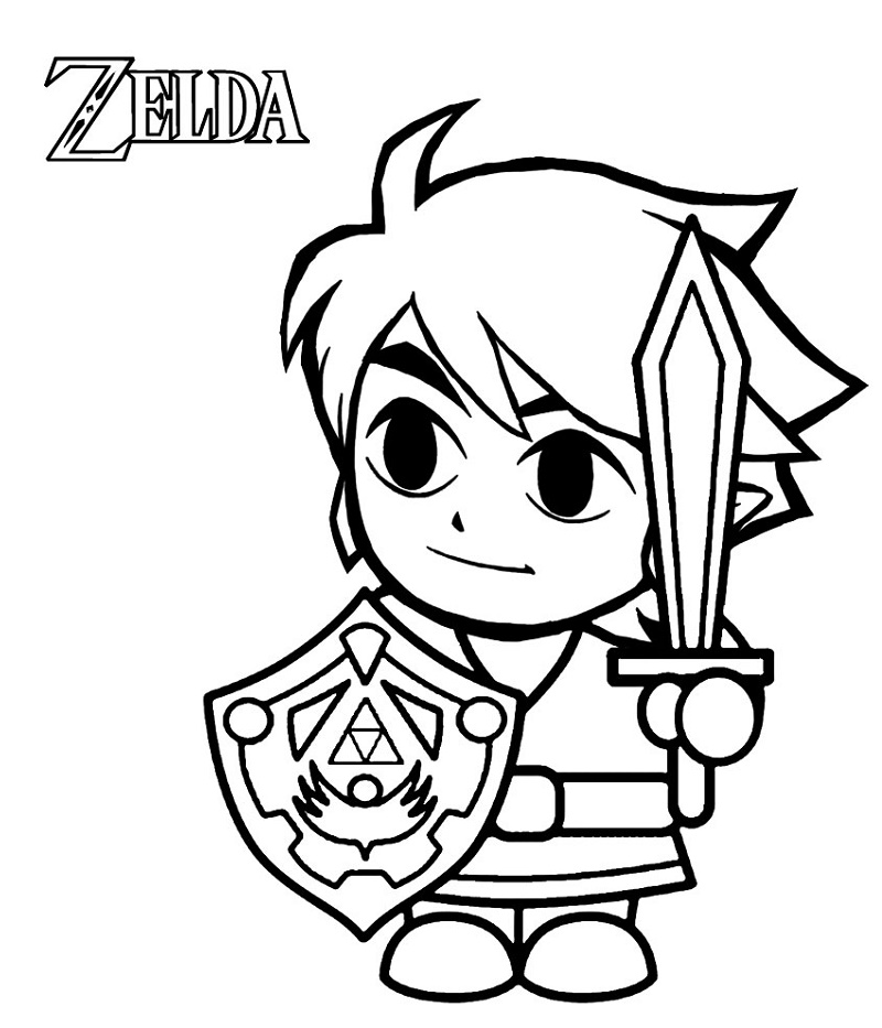 Zelda Coloring Pages Skyward Sword