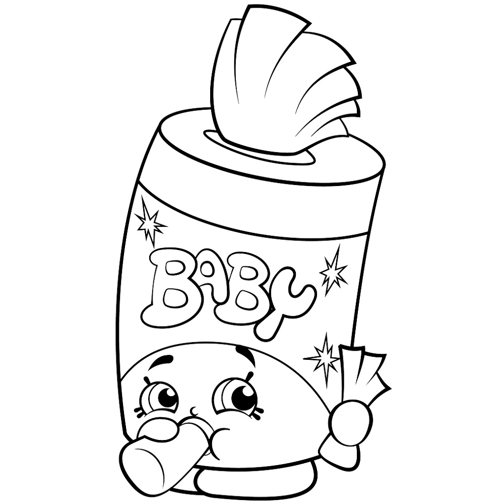 Shopkins Baby Cookie Coloring Pages Printable 4