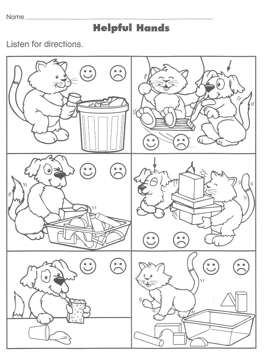 Activity Worksheets For Kids Good Manner