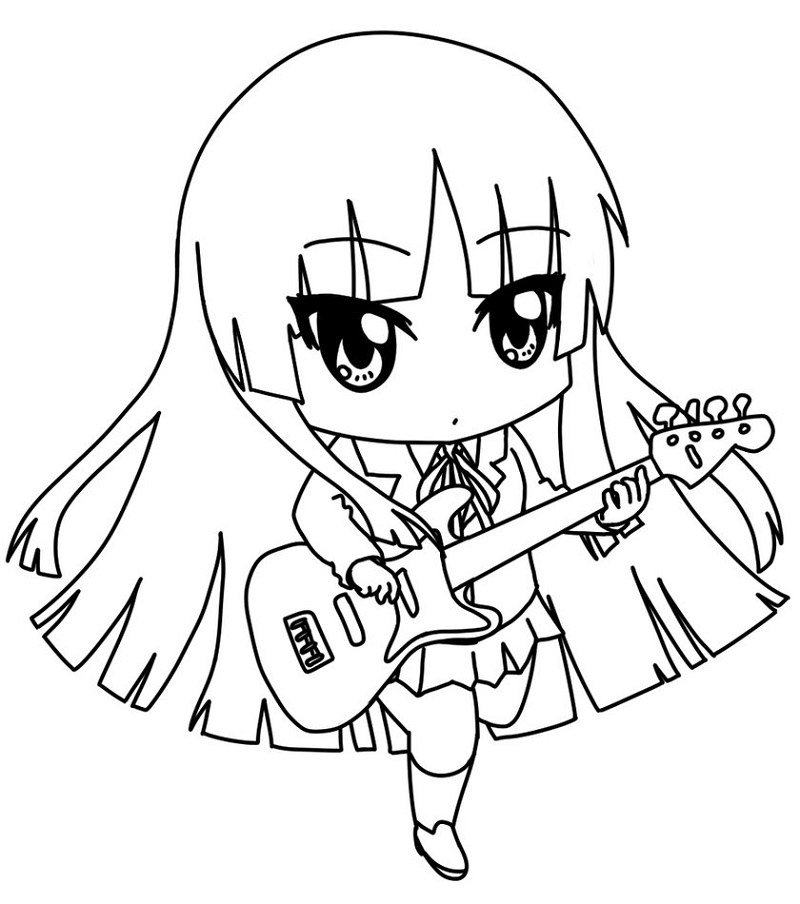 Anime Coloring Pages Printable Chibi