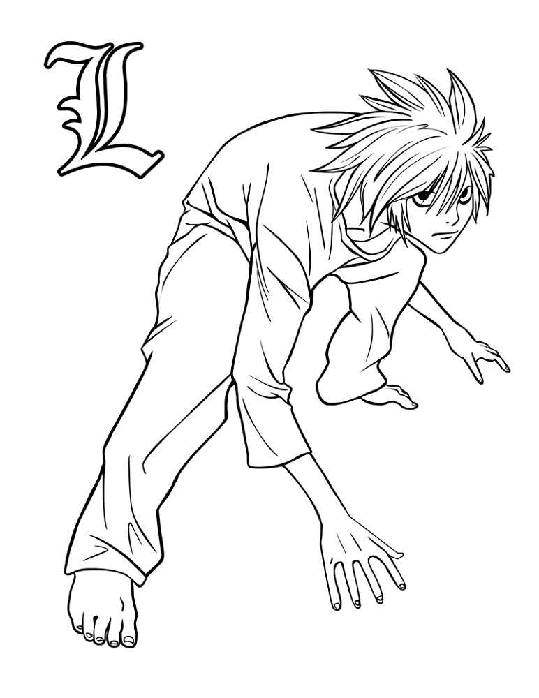 Anime Coloring Pages Printable Death Note