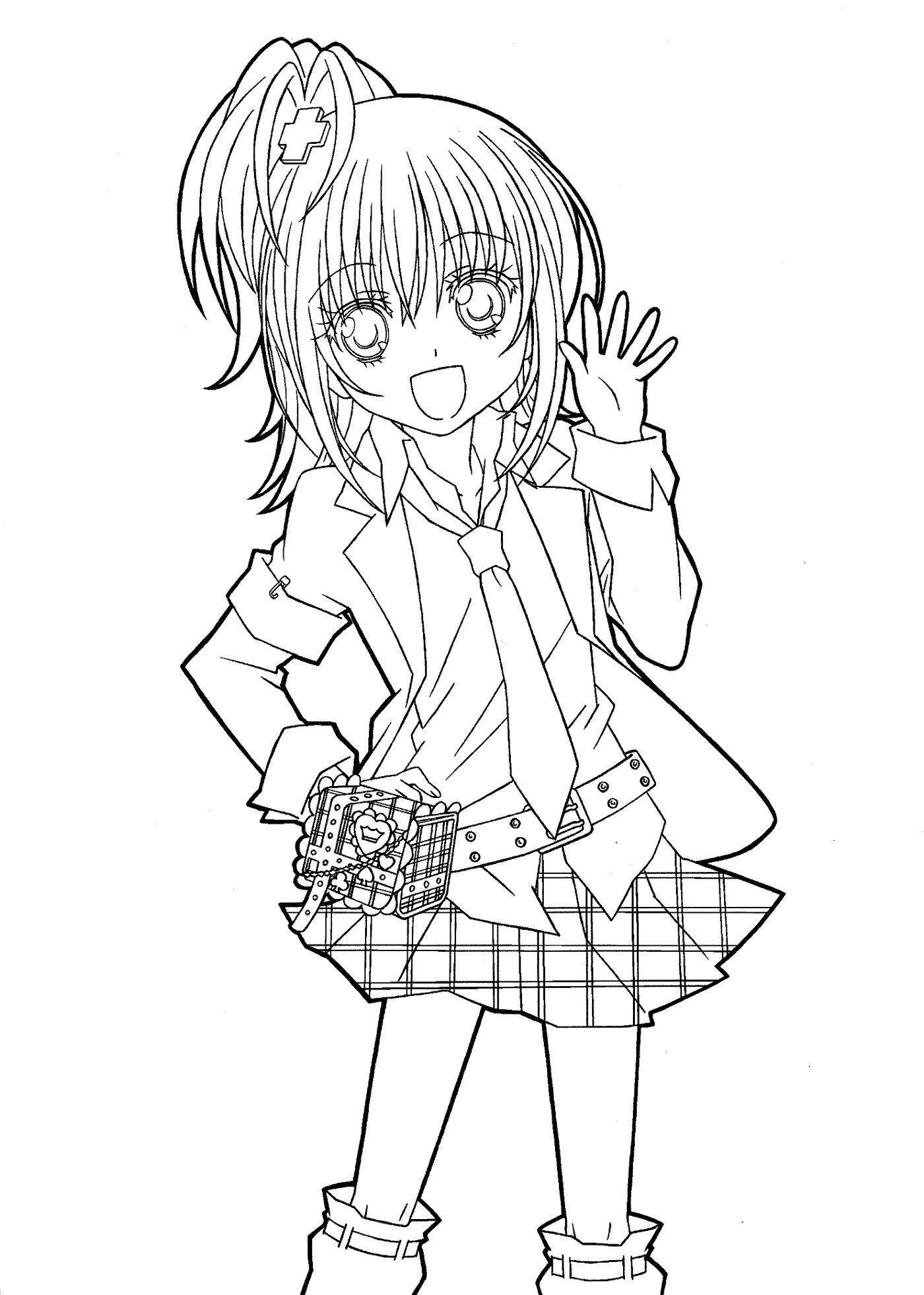 Anime Coloring Pages Printable Girl