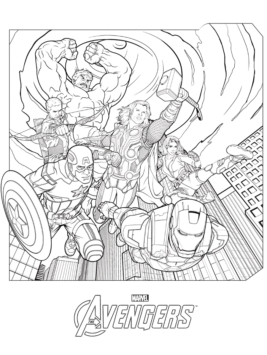 Avengers Coloring Pages Marvel