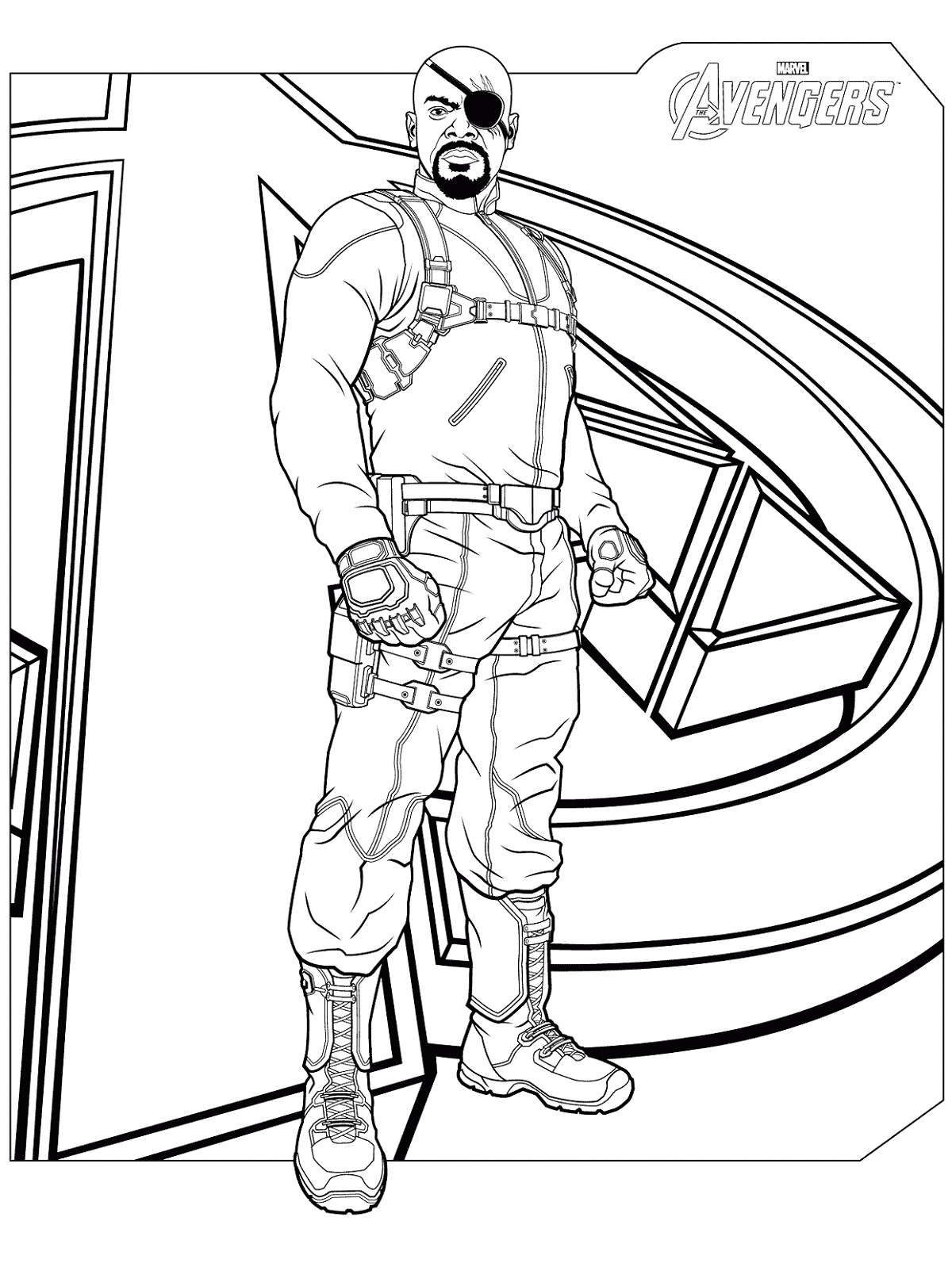 Avengers Coloring Pages Nick Fury