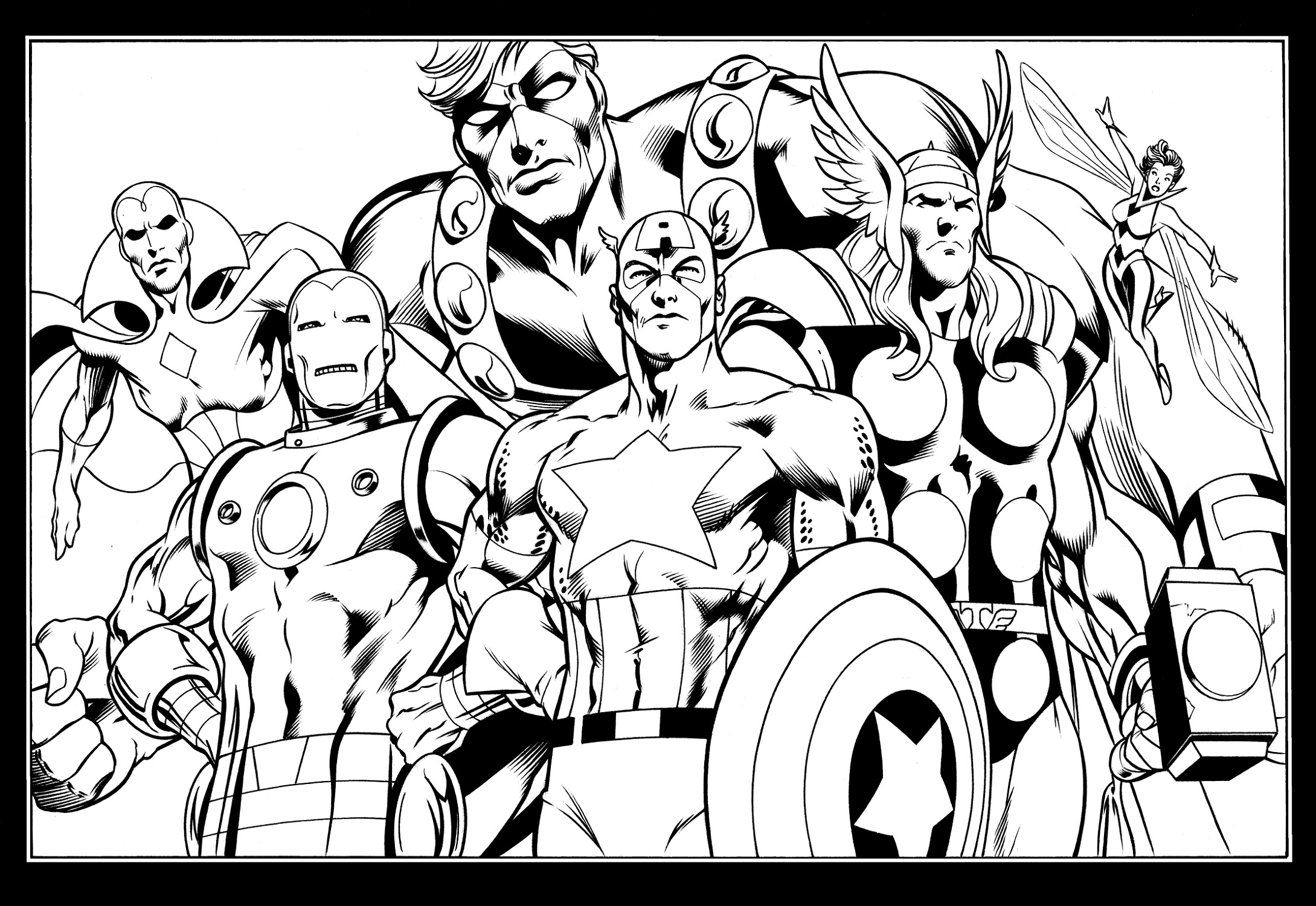 Avengers Coloring Pages Superhero