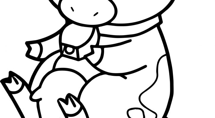 Baby Animal Coloring Pages Cow