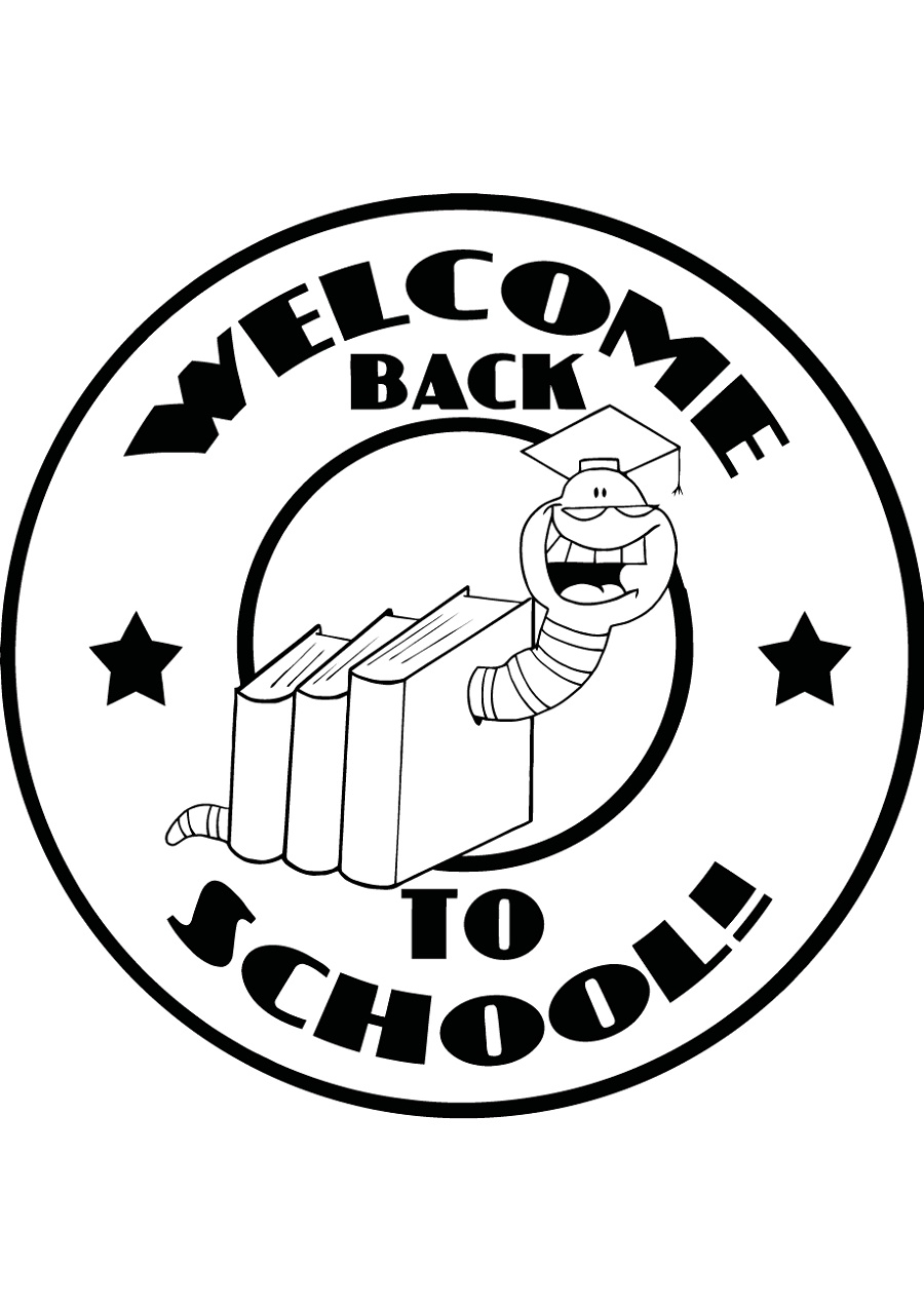 Back To School Coloring Pages Bookworm