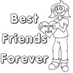 Best Friend Coloring Pages BFF
