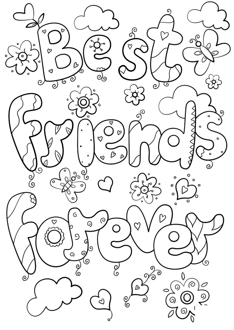 Best Friend Coloring Pages Forever