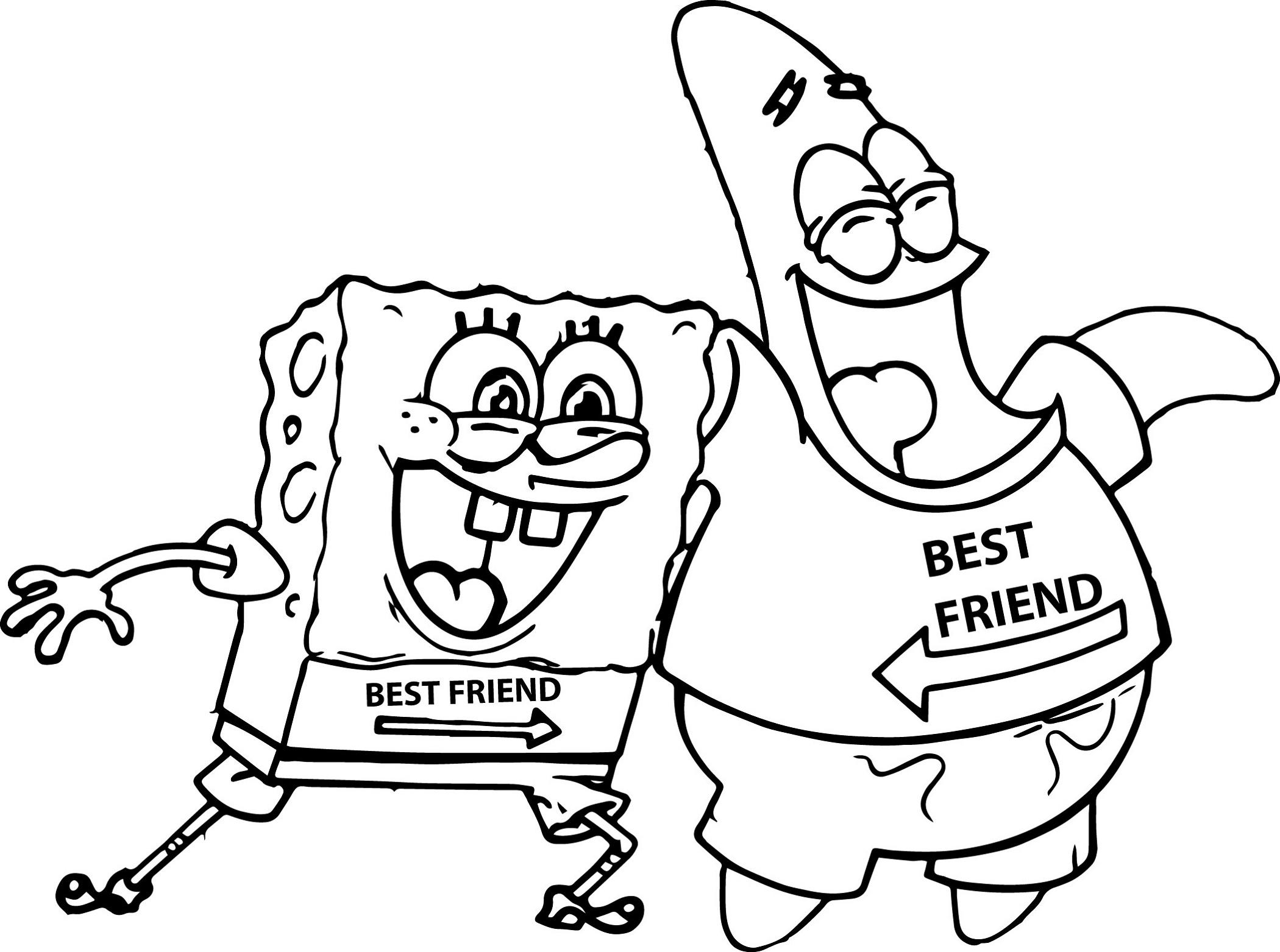 Best Friend Coloring Pages Spongebob