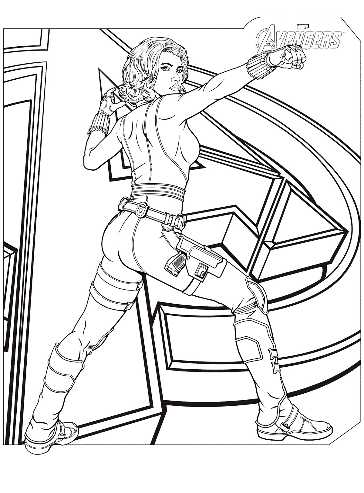Black Widow Coloring Pages Avengers