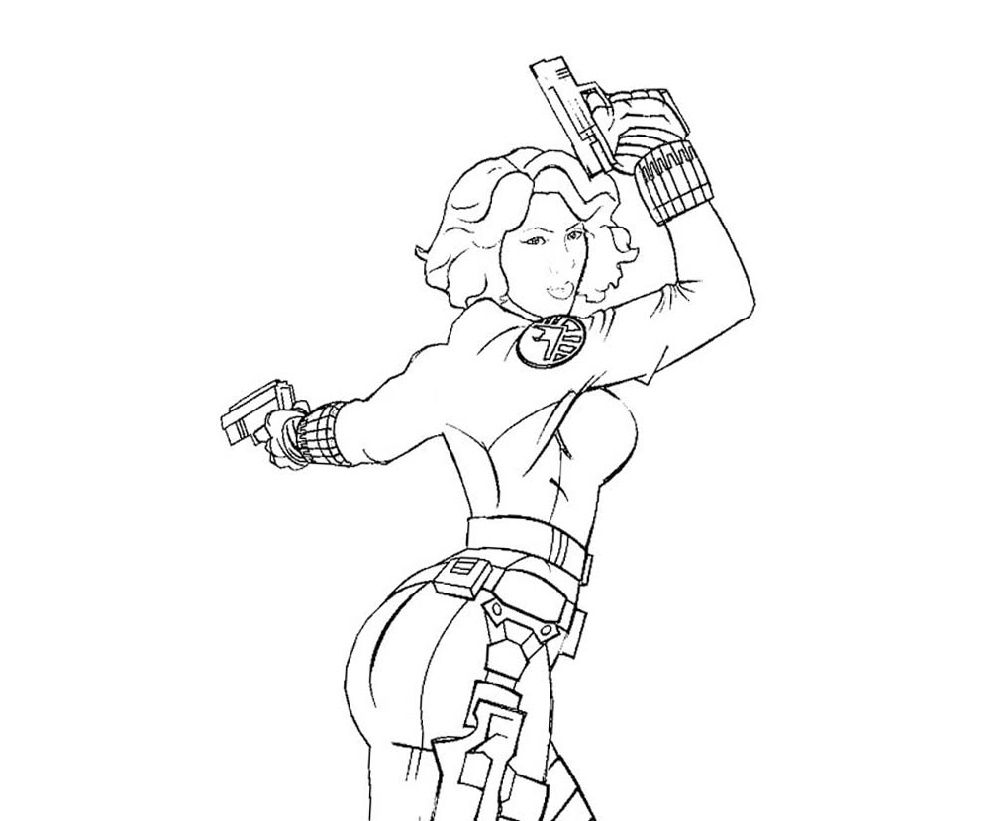 Black Widow Coloring Pages Marvel