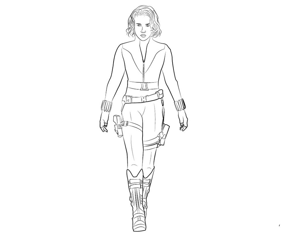Black Widow Coloring Pages Printable