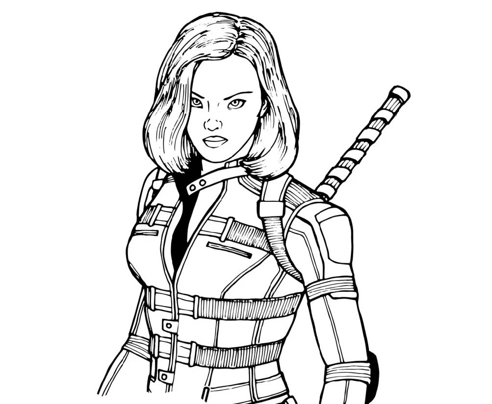 Black Widow Coloring Pages Super Woman