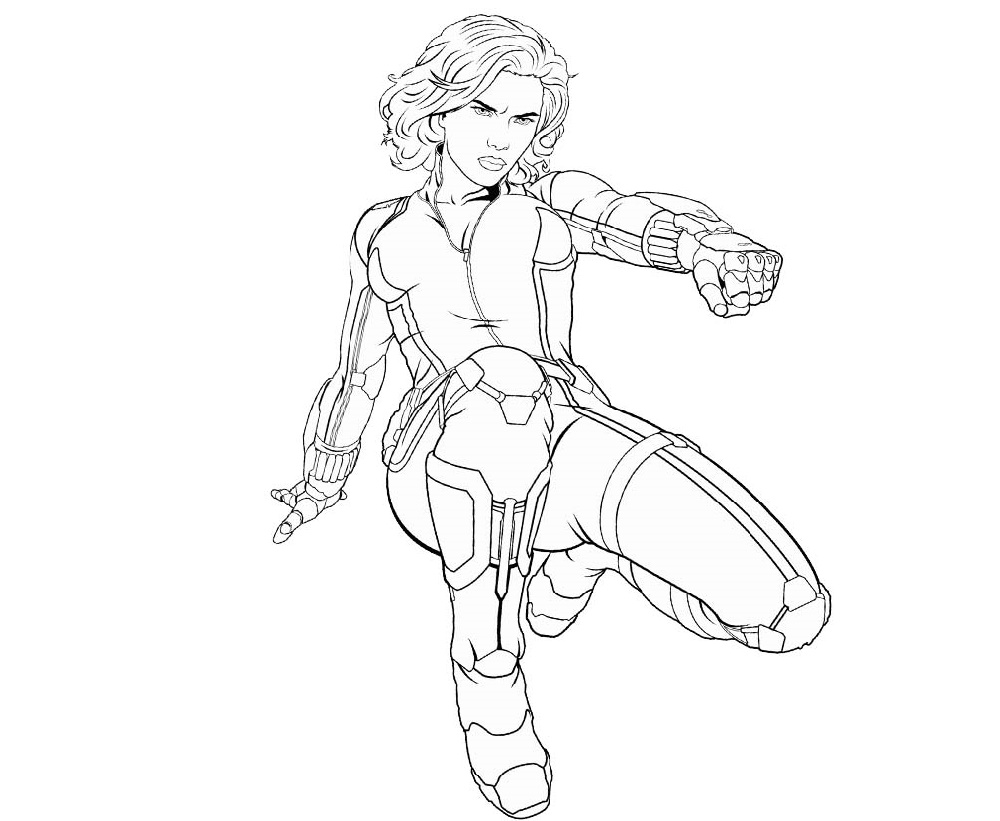 Black Widow Coloring Pages Superhero