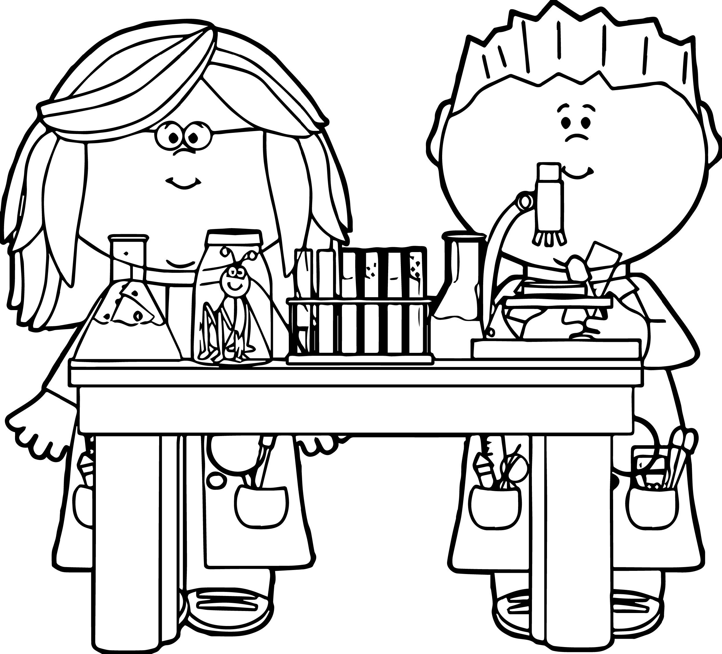 Chemistry Coloring Pages For Kids