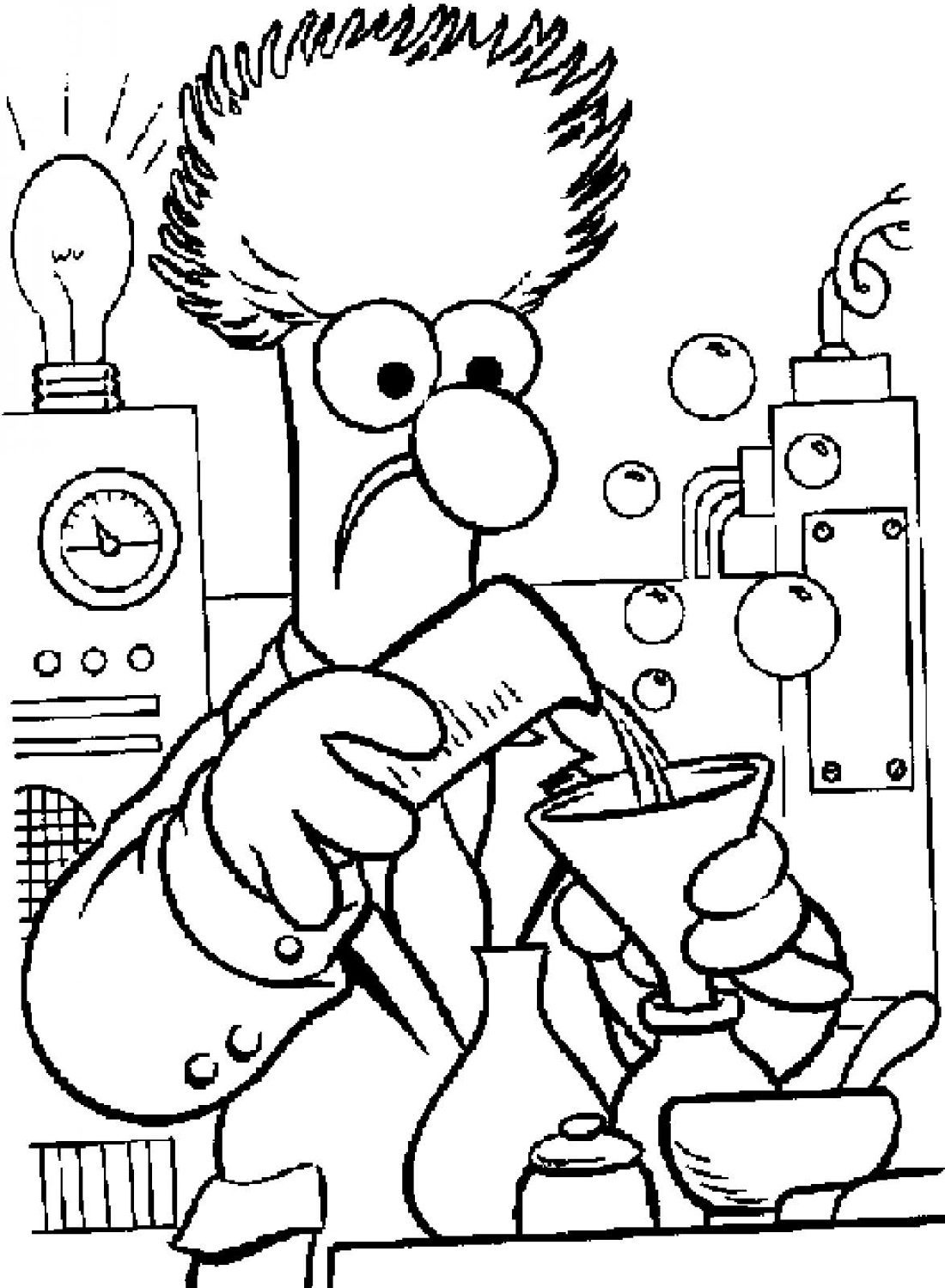 Chemistry-Coloring-Pages-Muppets