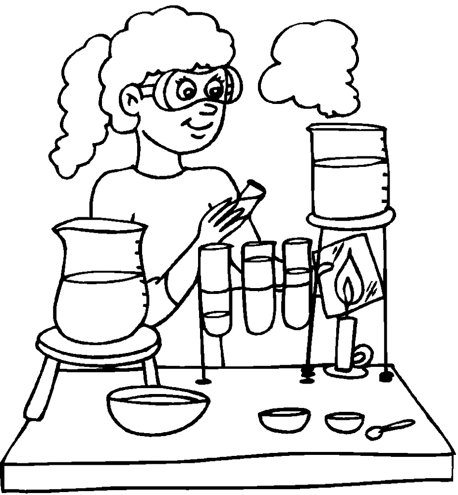Chemistry Coloring Pages Printable