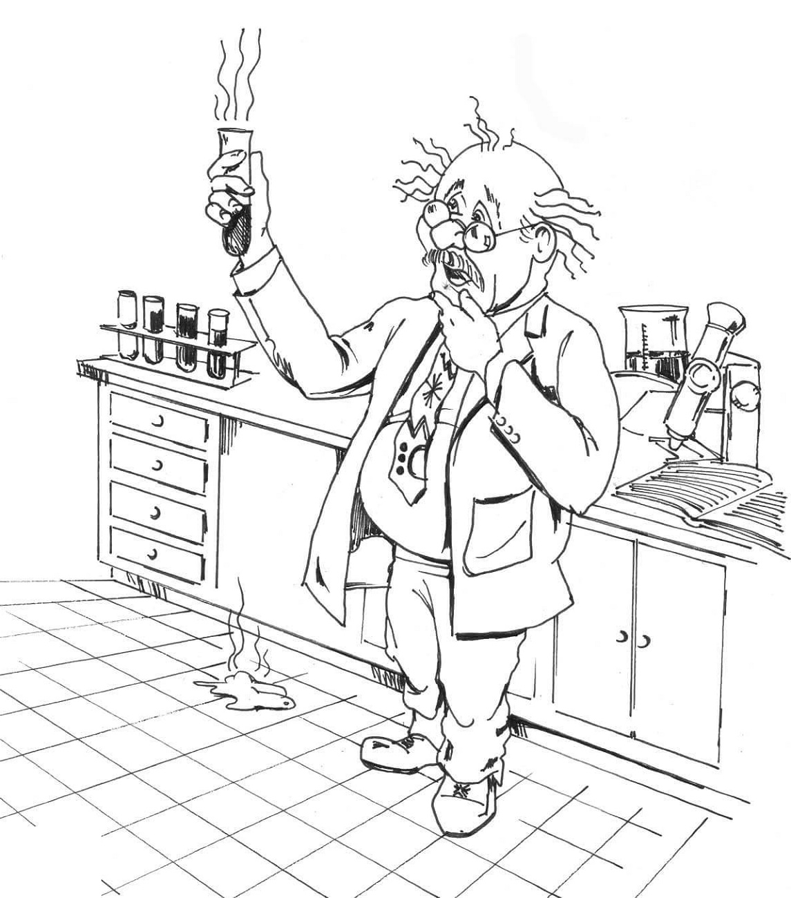 Chemistry Coloring Pages Scientist