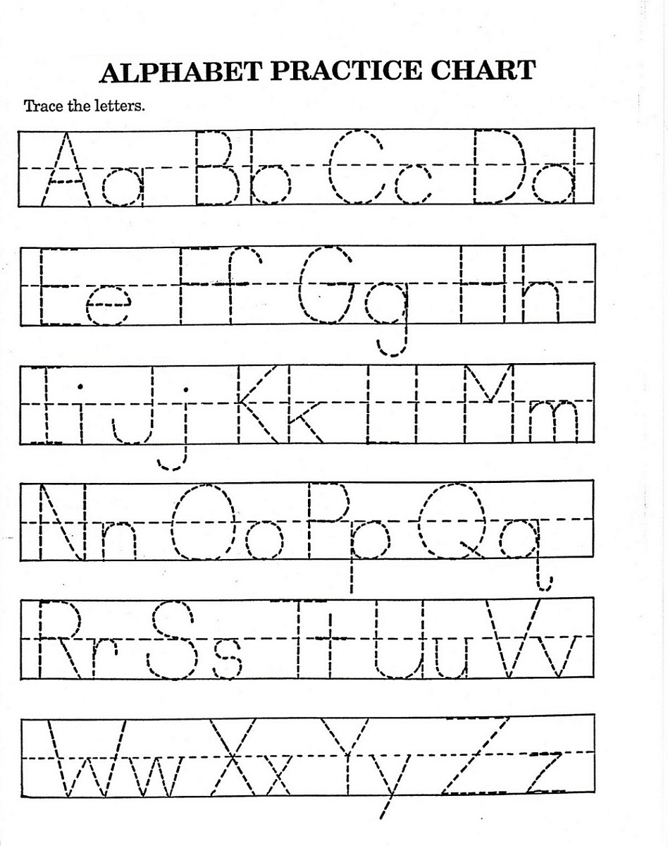 Children's Activity Sheets Alphabet Tracing