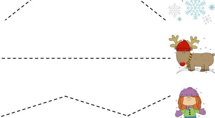 Children's Activity Sheets Cutting Practice