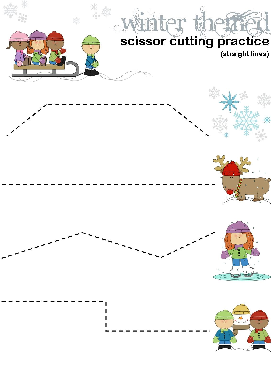 Children's Activity Sheets Cutting Practice